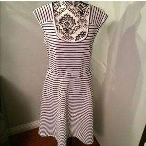 Torrid striped black & white dress